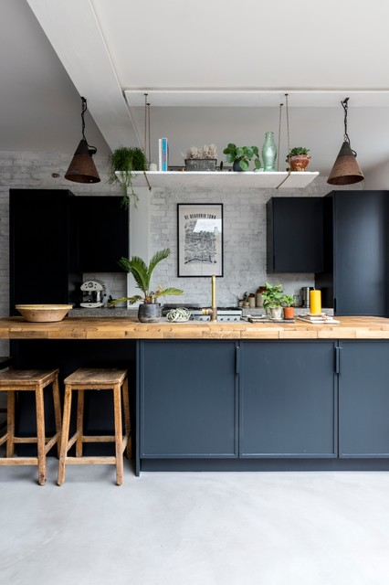 De Beauvoir Cottage Industrial Kitchen London By All