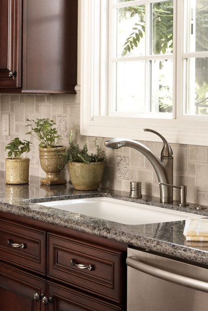debris series recycled tile kitchen backsplash in malt