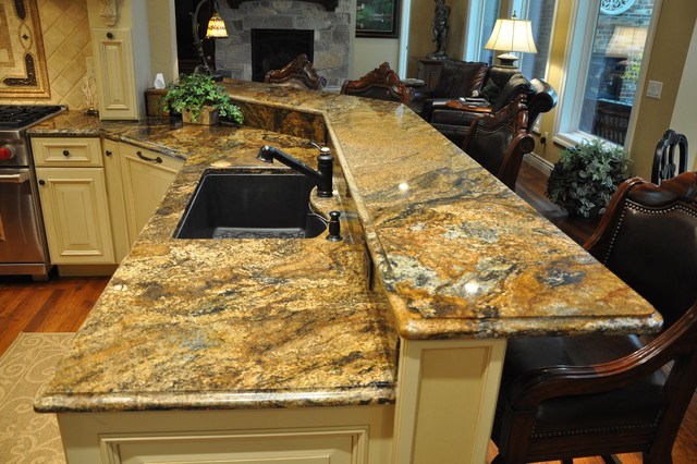 Decadent Cacao Granite traditional-kitchen