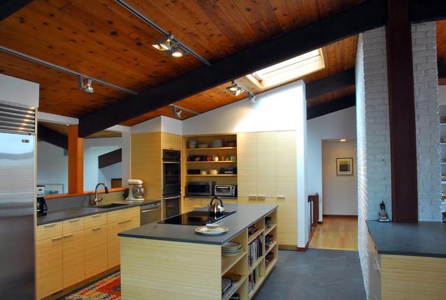 Deck House Kitchen Modern Kitchen Boston By Hammer Architects