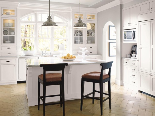 Marvelous Decora Cabinetry: Prescott Beaded Inset Maple White Traditional Kitchen