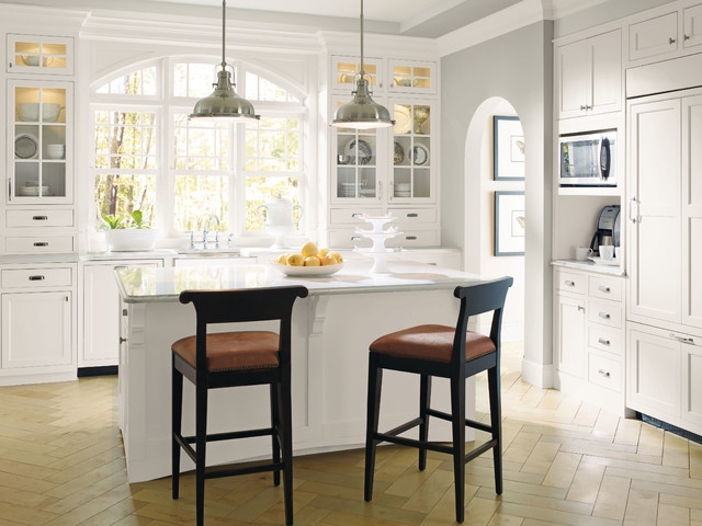 Decora Prescott White Kitchen Cabinets - Traditional ...