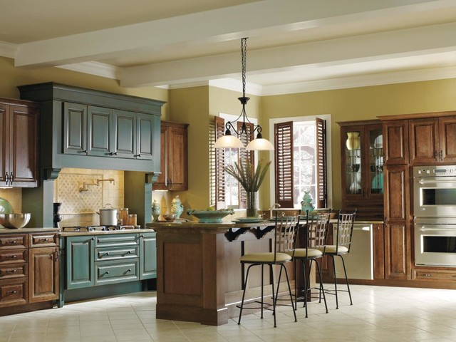 Decora Turquoise Rust Cabinets - Traditional - Kitchen ...