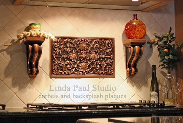 Decorative Corbels, Brackets for Countertops, Kitchen Shelves mediterranean-kitchen