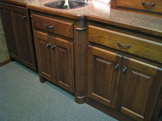 Decorative legs for base cabinets for Kitchen cabinets with legs