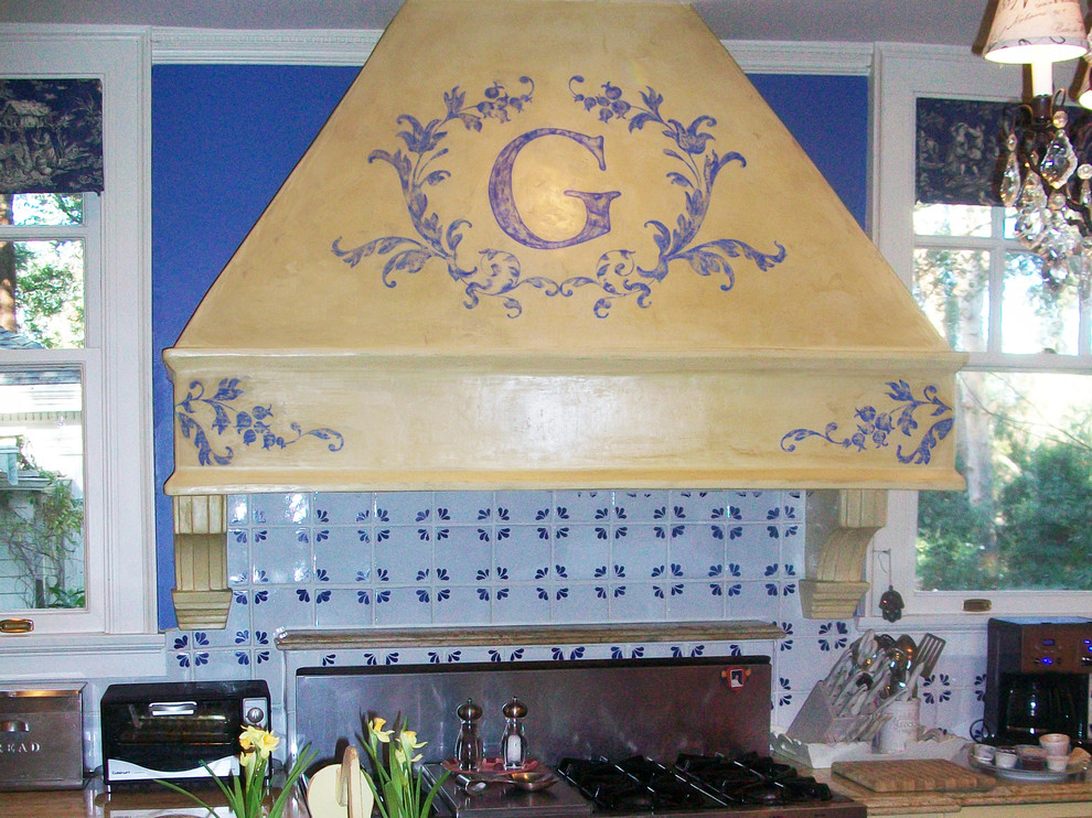 Example of a cottage chic kitchen design in Other