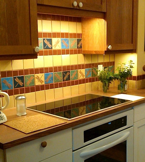 decorative tiles backsplashes traditional kitchen
