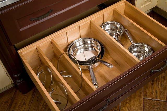 Deep Drawer Divider Kit - Traditional - Kitchen - Seattle - by Bellmont Cabinet Co.