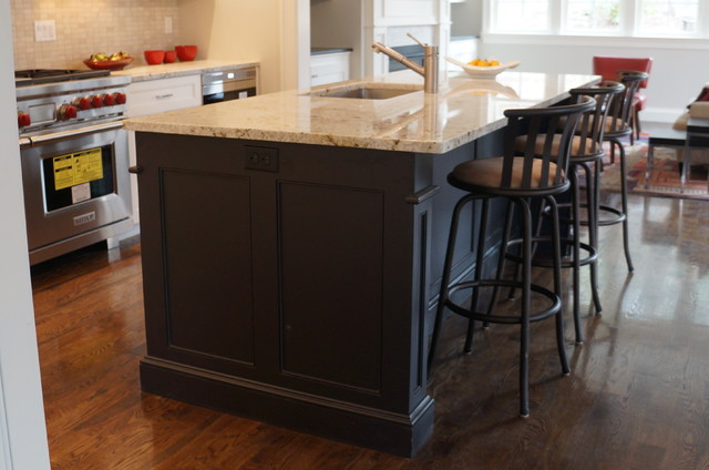 island side panels transitional kitchen boston