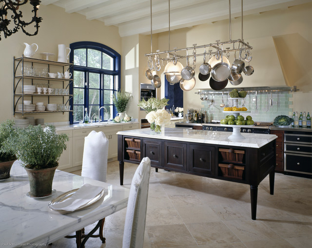 pot and pan ceiling rack ideas - DeGiulio Kitchen Traditional Kitchen chicago by