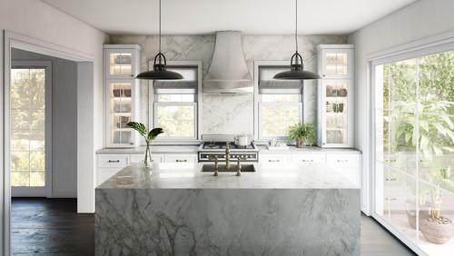 Kitchen Looks Like Marble Countertops