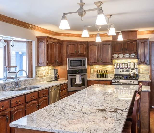Delicatus Kitchen - Traditional - Kitchen - Other - by Renaissance Granite & Quartz