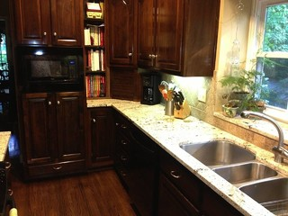 Delicatus White Granite - Traditional - Kitchen - birmingham - by Surface One