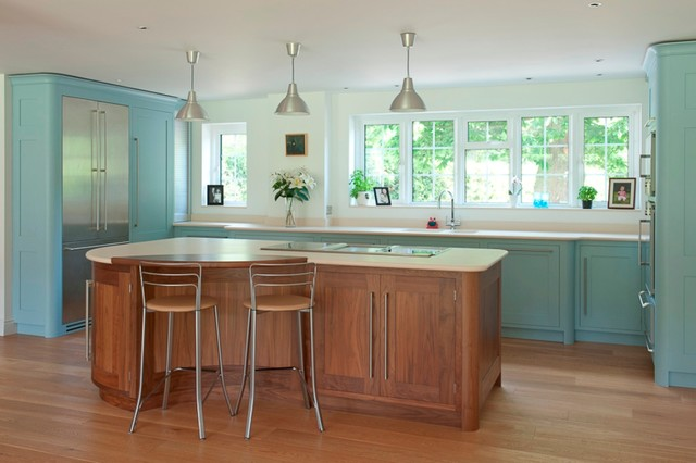 Delta Blues - Contemporary - Kitchen - other metro - by Edmondson Interiors
