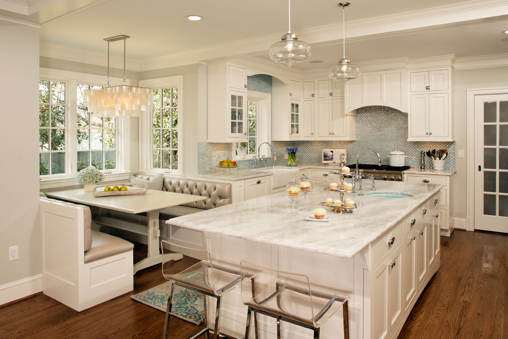 Kitchen - traditional kitchen idea in DC Metro with quartzite countertops