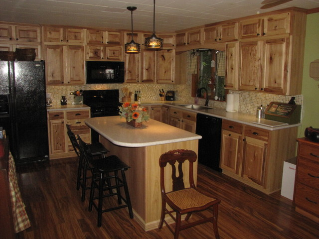 Denver hickory stock sweigart traditional kitchen for Kitchen cabinets denver
