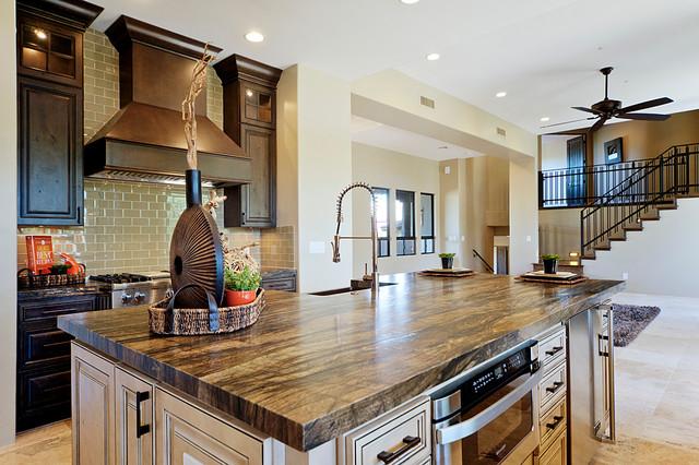 Desert Highlands Remodel Rustic Kitchen Phoenix By