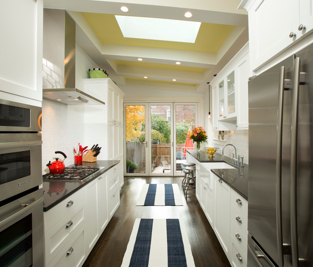 Rowhouse Renovation Transitional Kitchen Dc Metro