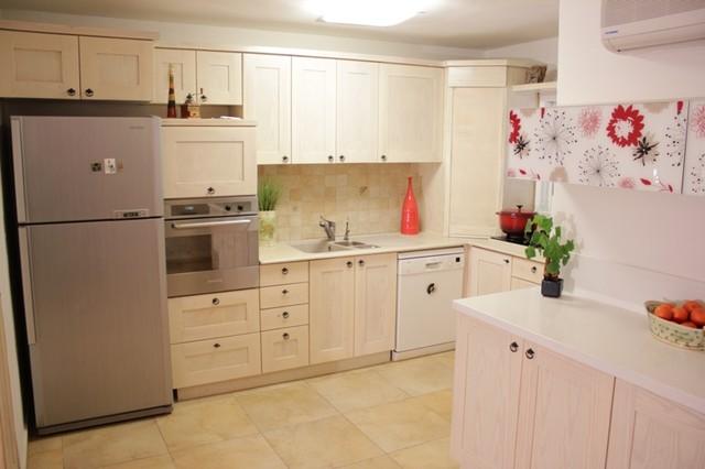 Idée de décoration pour une cuisine minimaliste.