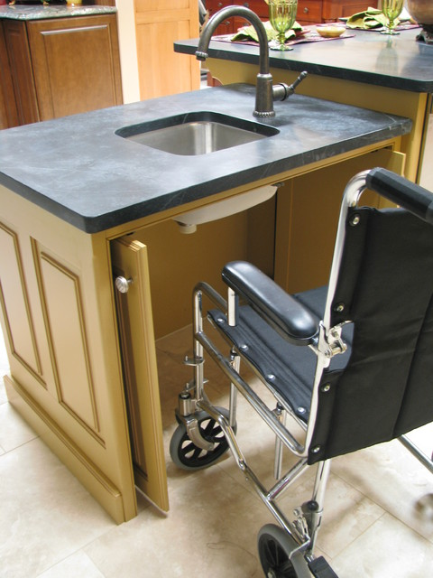 Designing for wheelchair access traditional kitchen for Disabled friendly kitchens