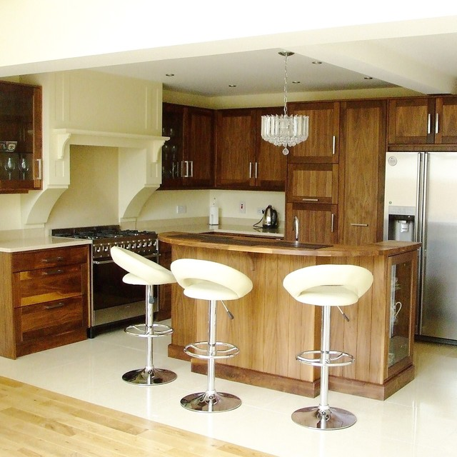Designwood ltd bespoke walnut kitchen contemporary kitchen dublin by designwood ltd Bespoke contemporary kitchen design