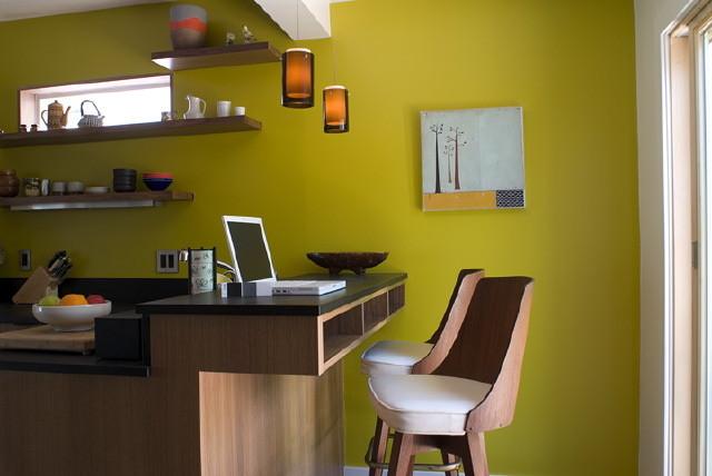 Desk Area modern kitchen