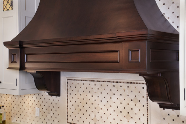 Detailed Range Hood Canopy Traditional Kitchen