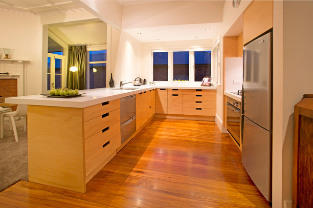 Devonport contemporary kitchen auckland by kitchen for C kitchens ltd swanage