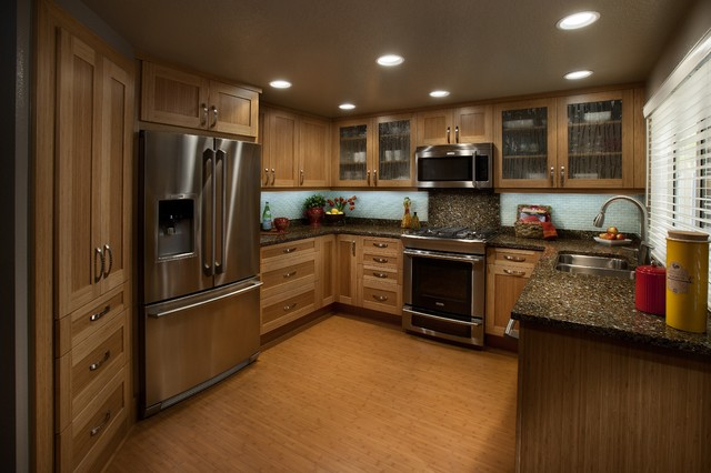 Dewils Bamboo Cabinetry Tropical Kitchen