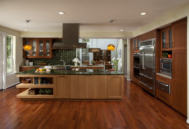 Dewils Bamboo Cabinetry Contemporary Kitchen