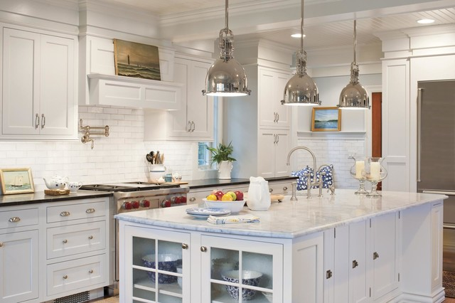 Enclosed Kitchen   Large Farmhouse L Shaped Enclosed Kitchen Idea In San  Francisco With A