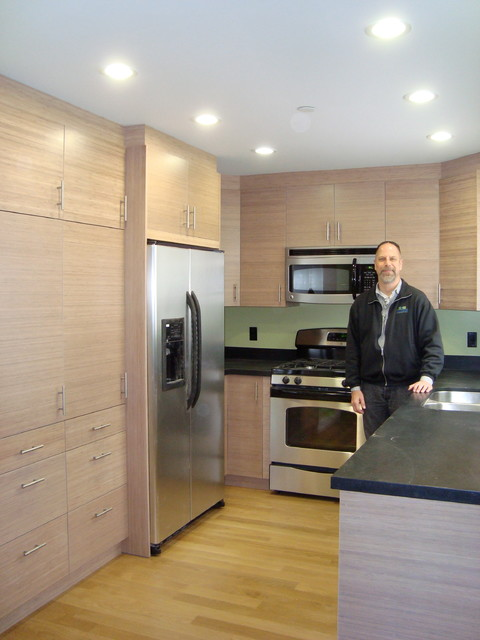 Dewils Horizons Bamboo Washed Veneer by John Keplar contemporary-kitchen