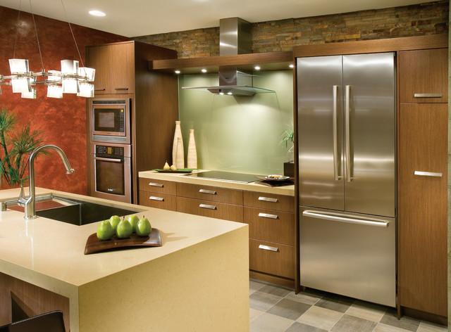 DeWils Horizons Frameless Line - Mahogany - Contemporary - Kitchen - portland - by DeWils Custom ...