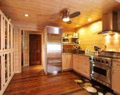 Dexter Log Home Addition and Remodel traditional kitchen