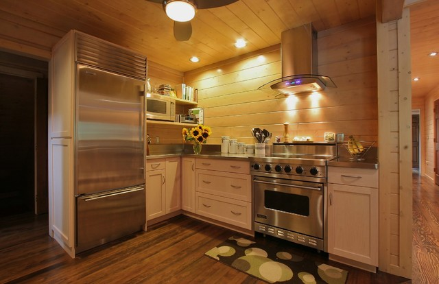 Dexter Log Home Addition and Remodel traditional-kitchen