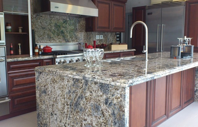 Good Diamond Arrow Granite Contemporary Kitchen