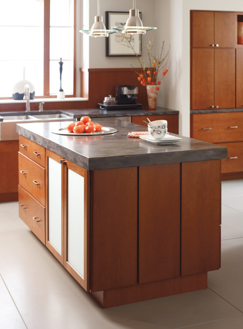 diamond cabinetry: trystan cherry cattail - contemporary - kitchen -masterbrand cabinets, inc.