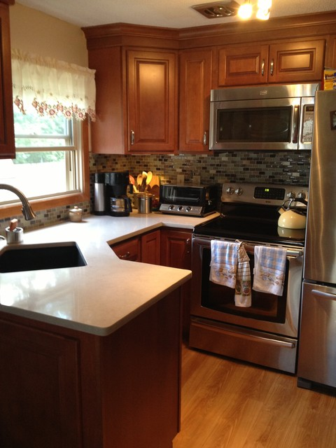 Diamond Cabinets, Allen and Roth Quartz countertop - Traditional - Kitchen - Manchester - by ...