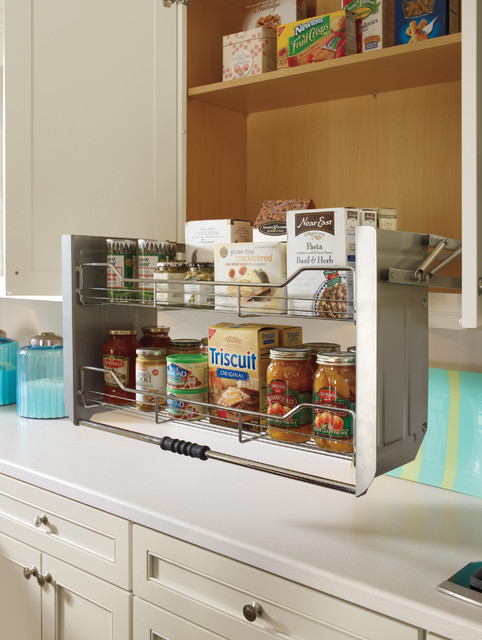 Diamond Cabinets Cabinet With Pull Down Shelf Traditional