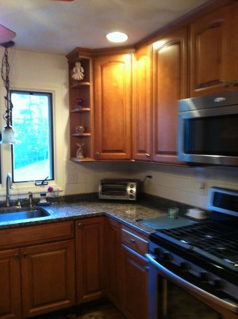 Diamond, Granite Project traditional-kitchen