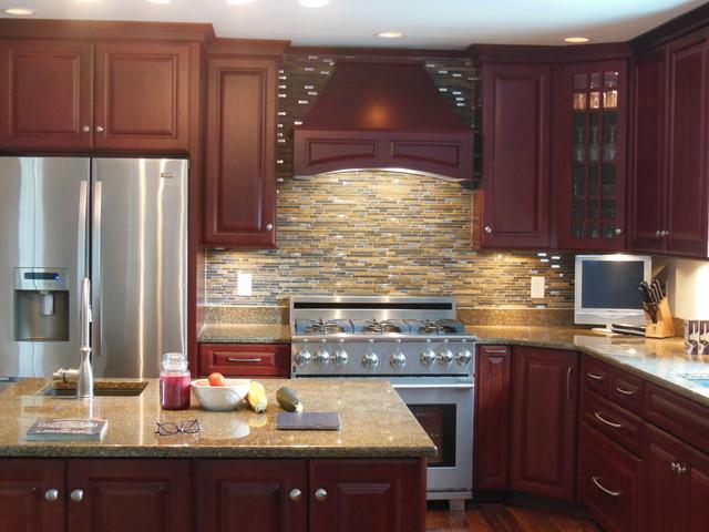 Diamond Henderson/Jamestown Cherry Cranberry Kitchen - Traditional - Kitchen - other metro - by ...