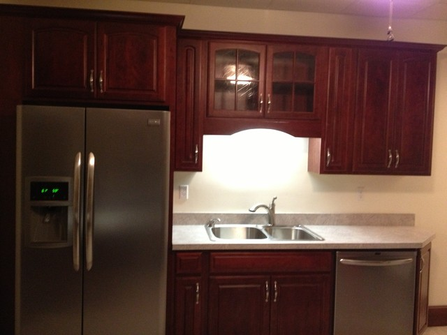 Diamond Reflections, Cherry Vancouver, Cranberry - Traditional - Kitchen - other metro - by Lowe ...