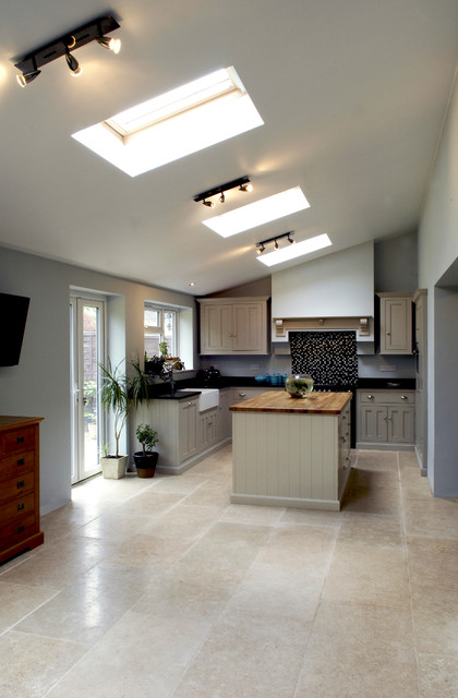 Http Www Houzz Co Uk Photos 24335025 Dijon Tumbled Limestone Flooring Modern Kitchen East Midlands
