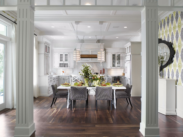 Dine In Kitchen by Alvarez Homes Home Builders In Tampa - (813) 701-3299 contemporary-dining-room