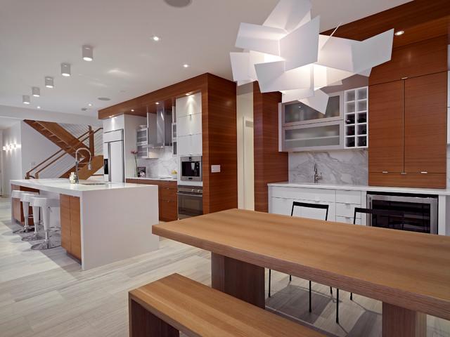 Dining And Kitchen Contemporary Kitchen Edmonton By Habitat Studio