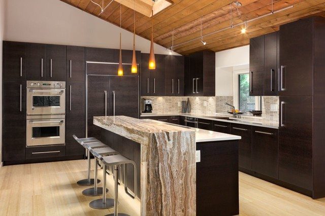 Dining Bridge In Kitchen Contemporary Kitchen Atlanta