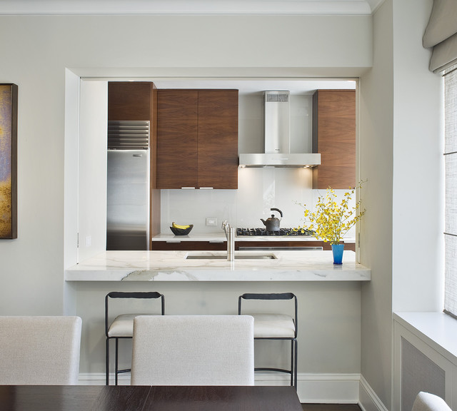 Dining room modern kitchen new york by laurie lieberman architects Modern kitchen design ideas houzz