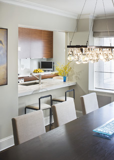 Dining Room - Modern - Kitchen - New York - by Laurie Lieberman Architects