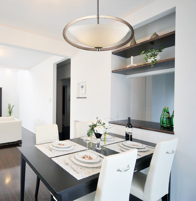 Kitchen Lighting Collections: Dione Collection Polished Nickel 3-Light Pendant