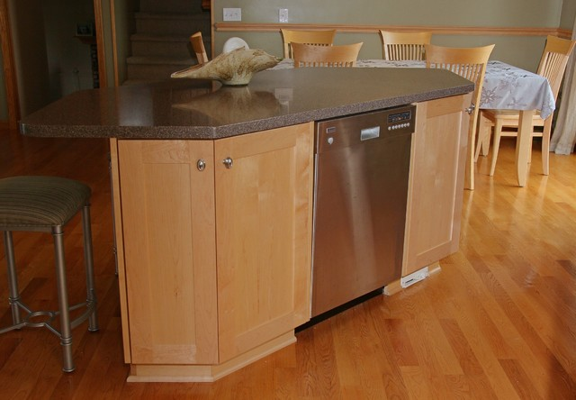 dishwasher in island traditional kitchen other metro